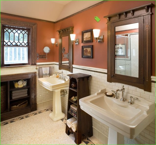 Modern Craftsman Style Bathroom 67 34 Best Arts & Crafts Staircases Images On Pinterest 8