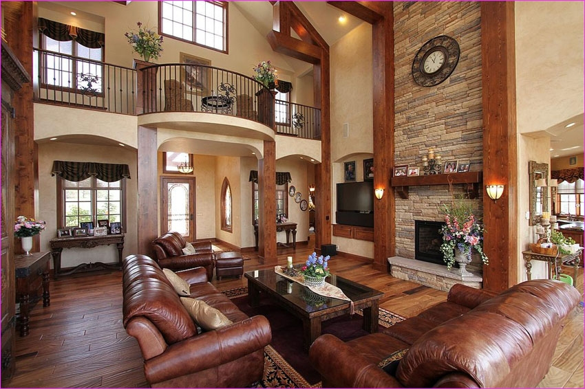 Living Room with Hickory Flooring 35 39 Beautiful Living Rooms with Hardwood Floors Designing Idea 4