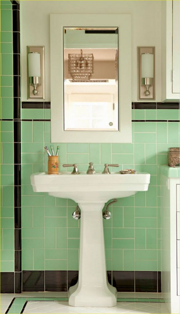 40 Wonderful Art Deco Bathroom Tiles Designs Decor Renewal