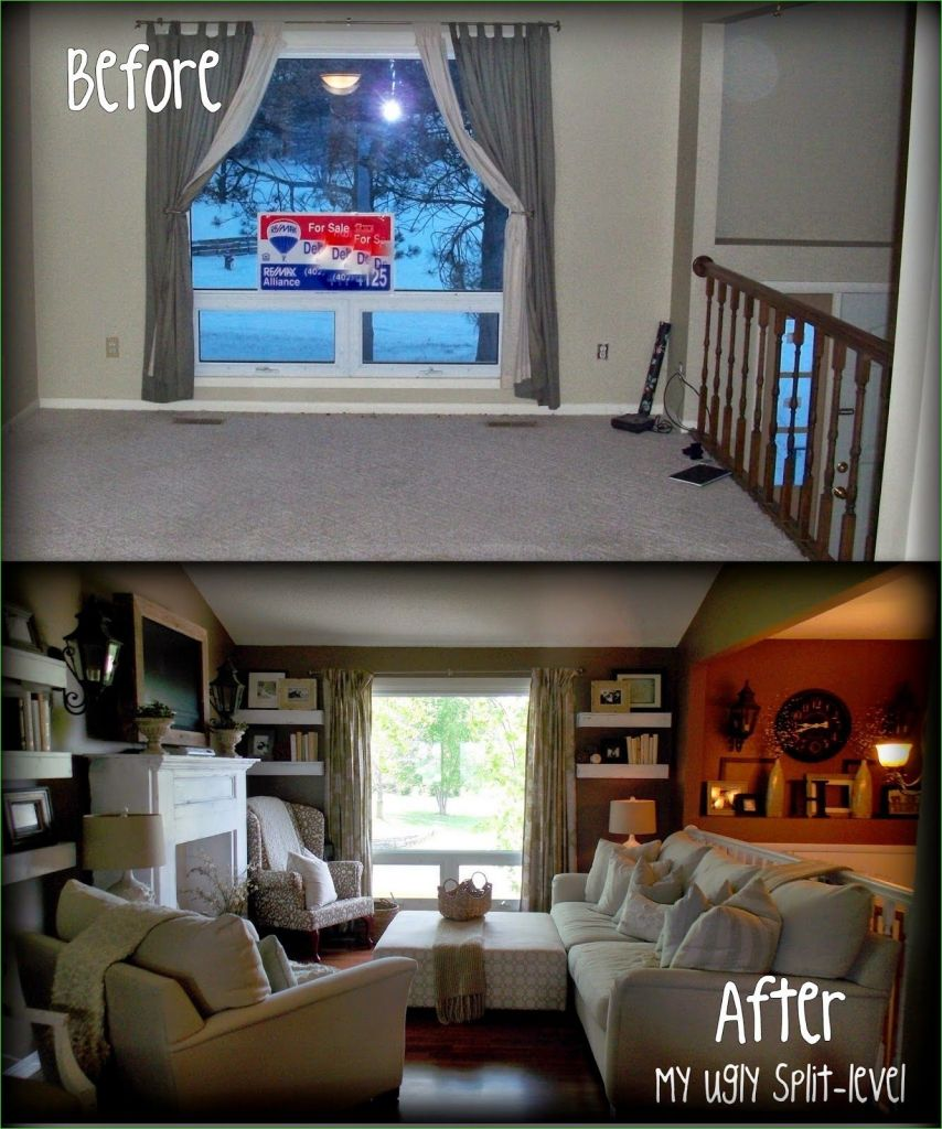 Living Room Page Level Decor 28 This Lady Has tons Of Thrifty Ideas for Redecorating A Plain Old Split Level Home Makes Split 8