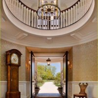 Stunning Round Table Foyer Entrance