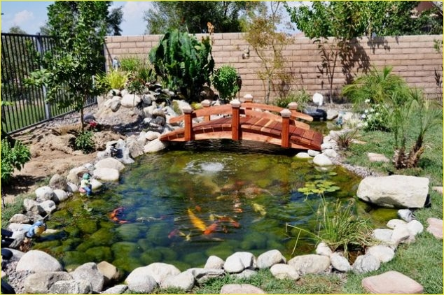Small Backyard Bridge 57 15 Inspirative Garden Pond with Bridge that You Would Like to See 9