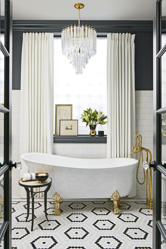 Beautiful Gold and White Bathroom 35