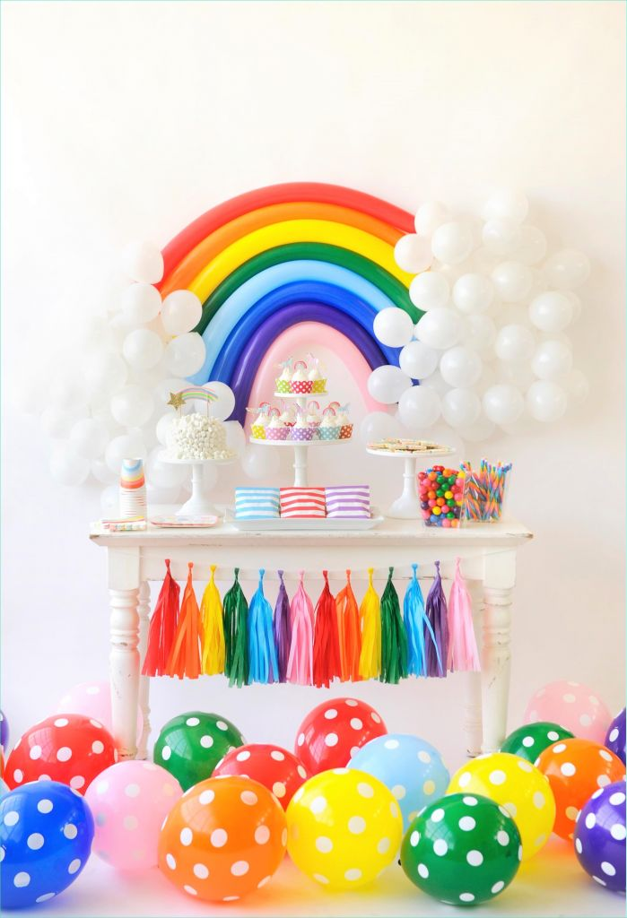 Rainbow theme toddler Room 53 Over the Rainbow Birthday Party for Kids Project Nursery 7
