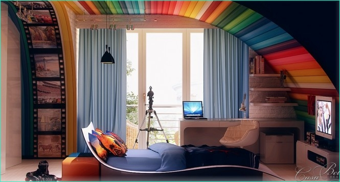 Rainbow theme toddler Room 39 Ideas for How to Design and Arrange Your Teen Room 5