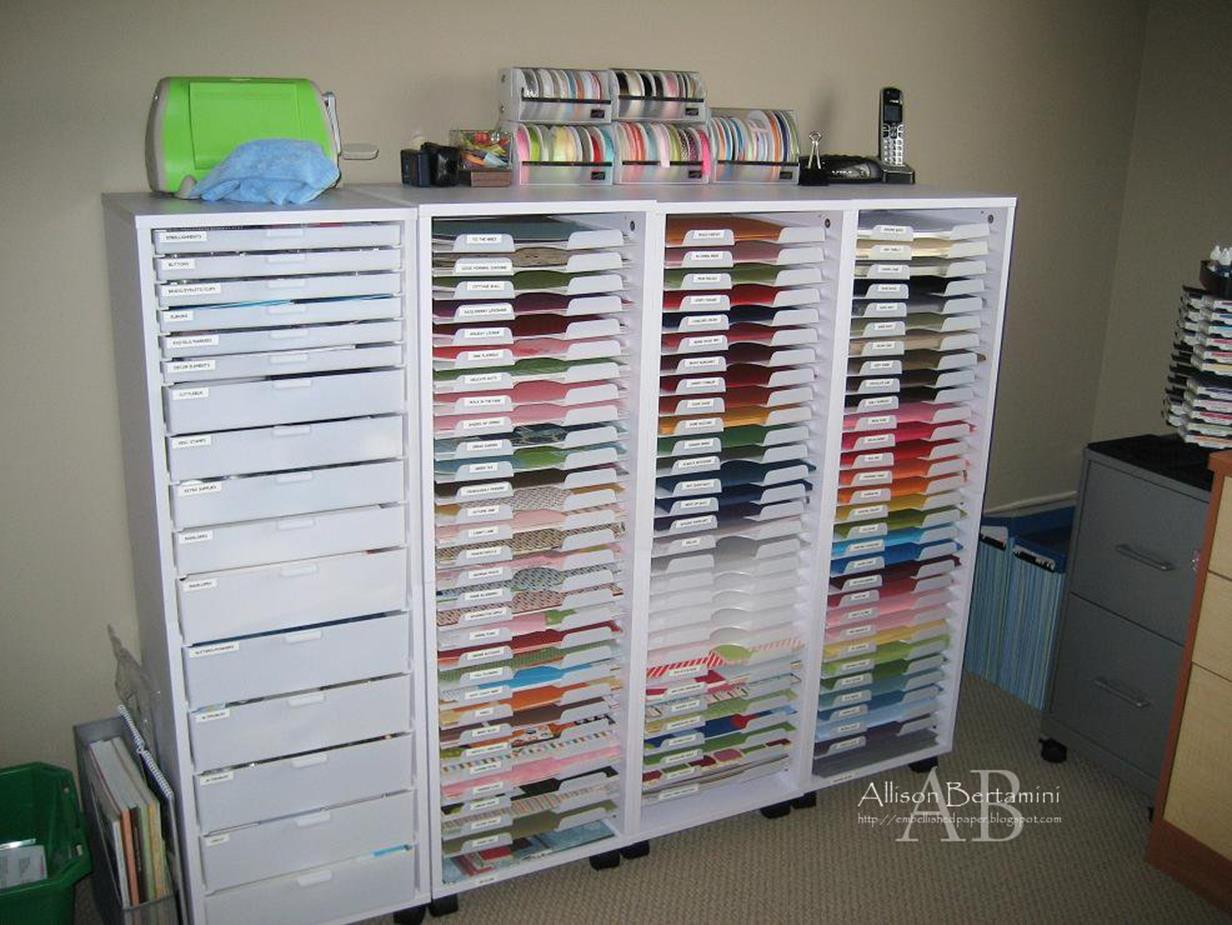 Craft Room Paper Storage 14