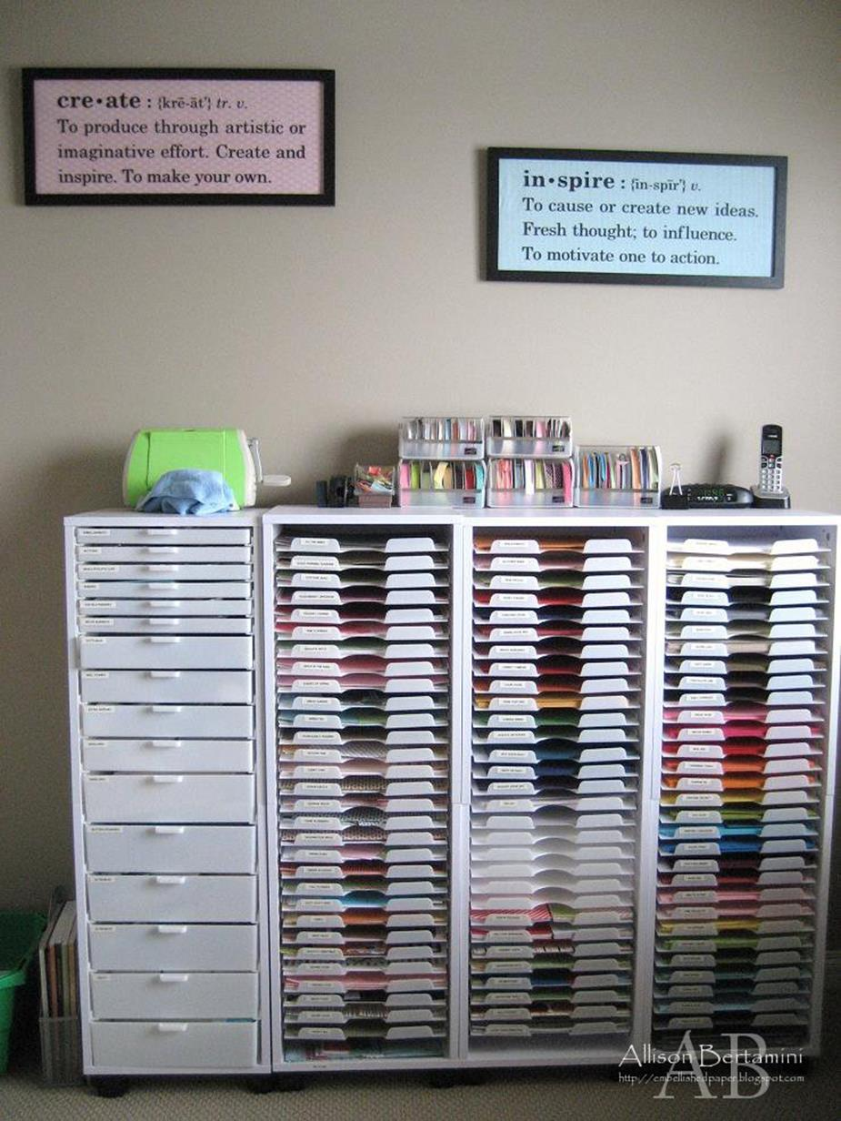 Craft Room Paper Storage 15