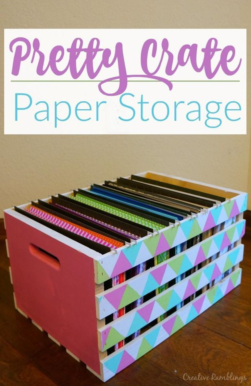 Craft Room Paper Storage 4