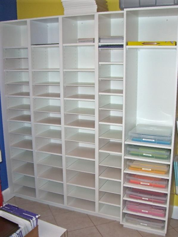 Craft Room Paper Storage 8