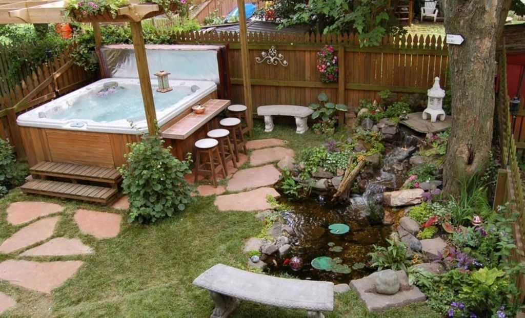 Small Backyard Ideas with Hot Tub 29