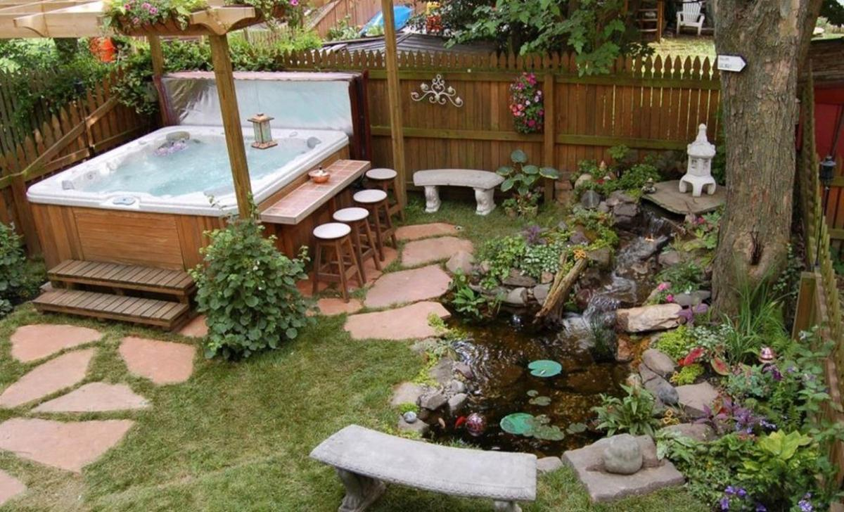 Small Backyard Ideas With Hot Tub 29 Decor Renewal