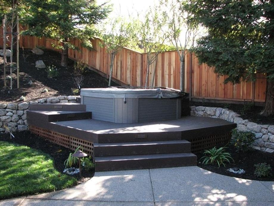 Small Backyard Ideas with Hot Tub 3