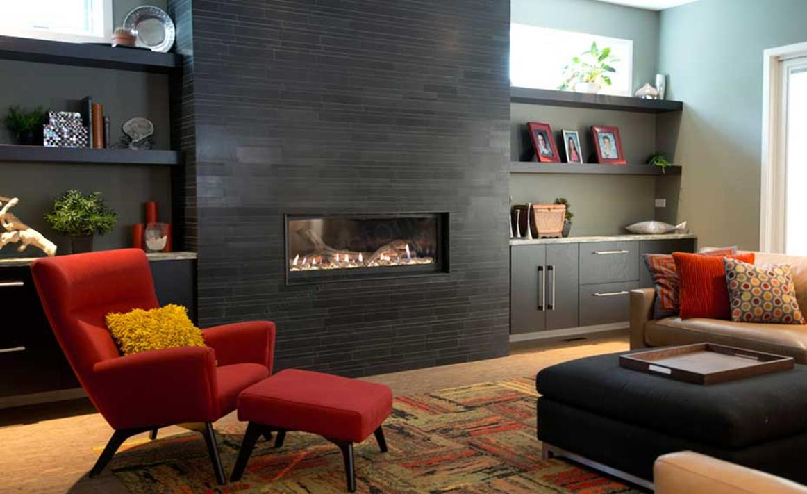Living Room Smooth Stone Interior Walls 15
