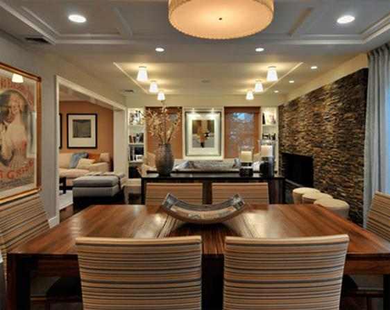 Living Room Smooth Stone Interior Walls 30