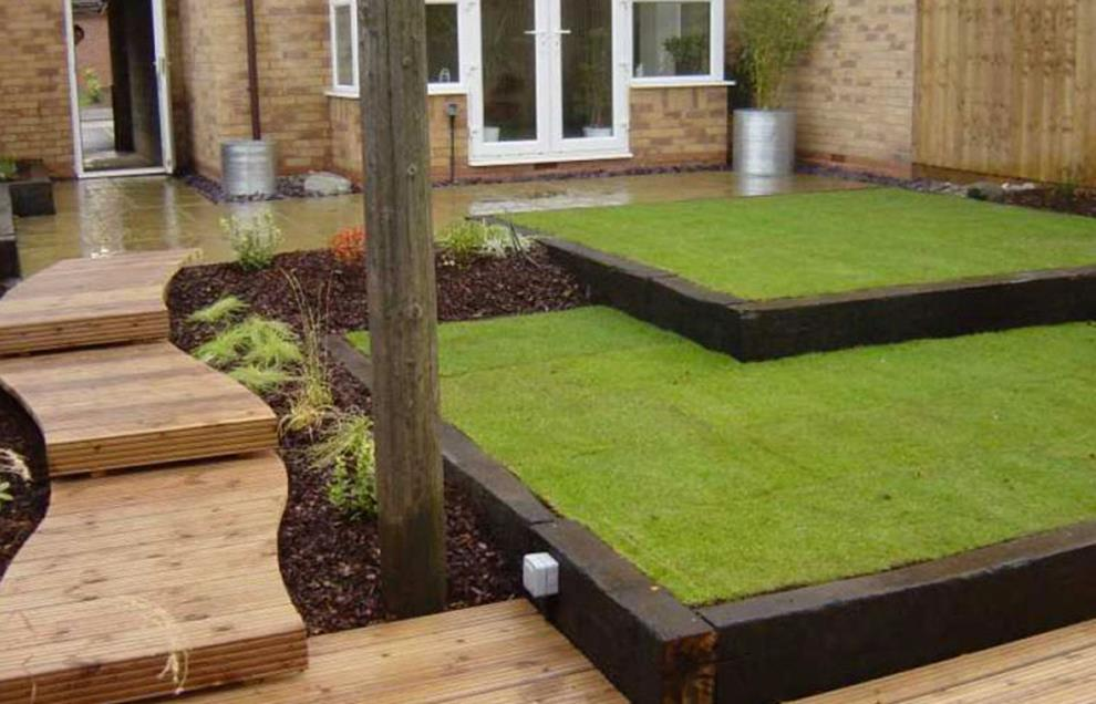 Wood Lawn Edging Ideas 11