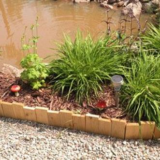 Wood Lawn Edging Ideas 2