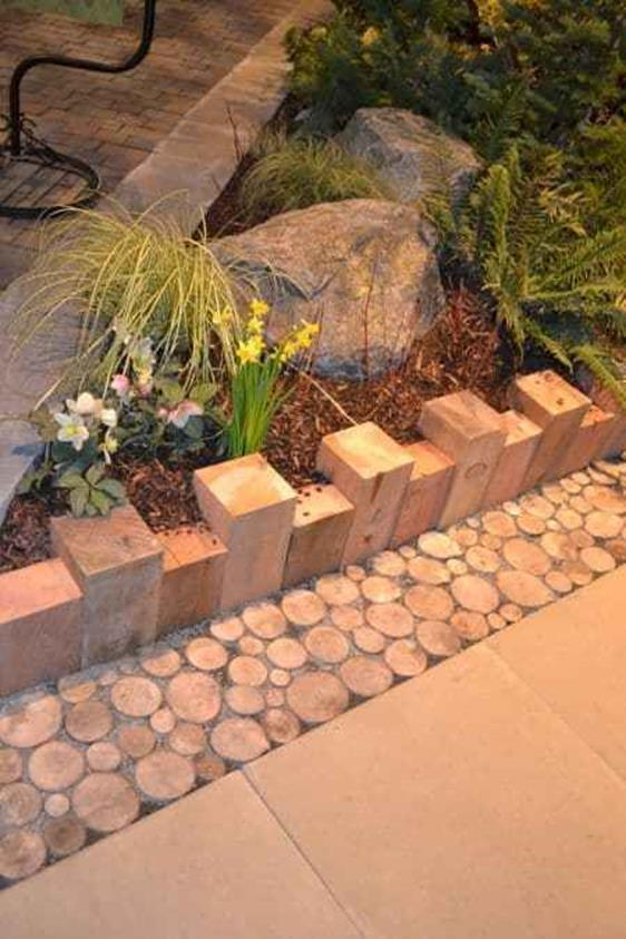 Wood Lawn Edging Ideas 21
