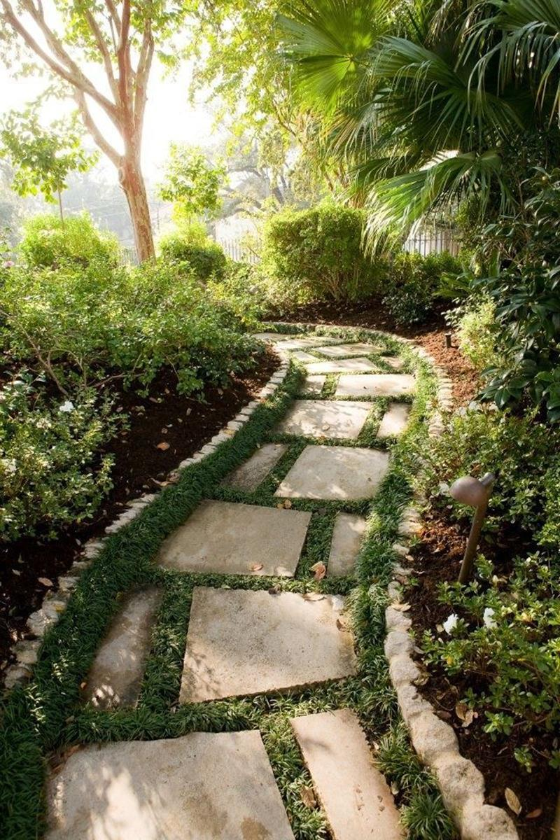 Beautiful Stone Path around Flowers 12