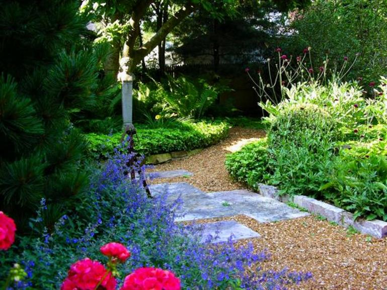 Beautiful Stone Path around Flowers 23