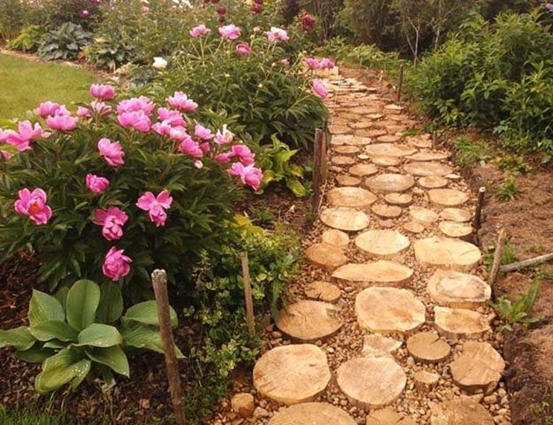 Beautiful Stone Path around Flowers 46