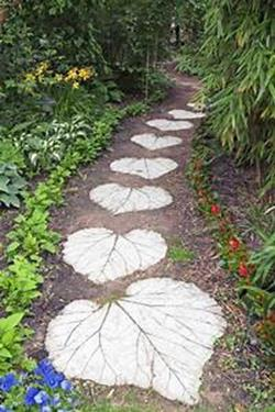 Beautiful Stone Path around Flowers 48