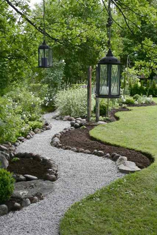 Beautiful Stone Path around Flowers 51
