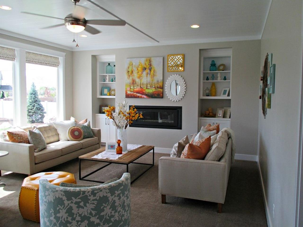 Living Room Accent Wall Color Combinations 1