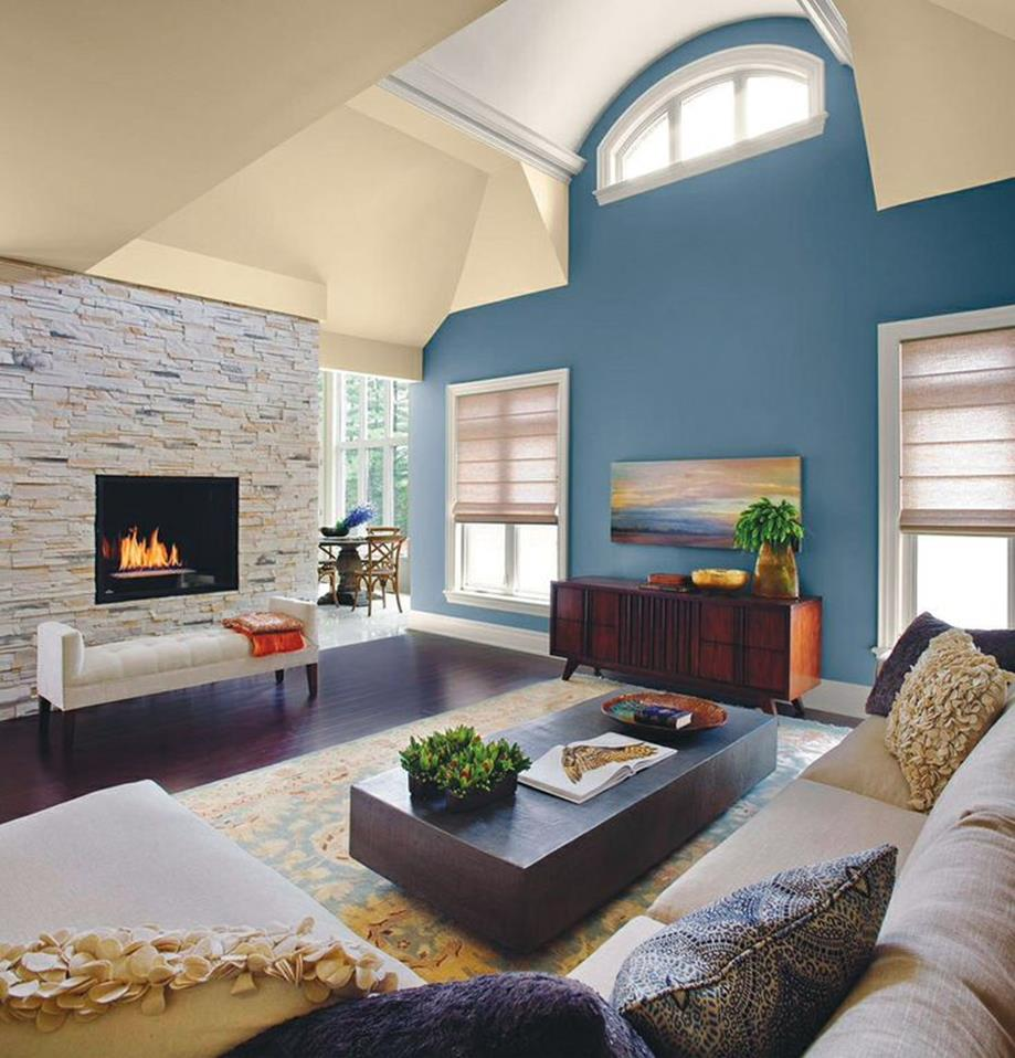 Living Room Accent Wall Color Combinations 20