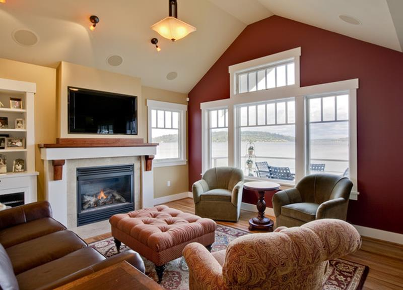 Living Room Accent Wall Color Combinations 25