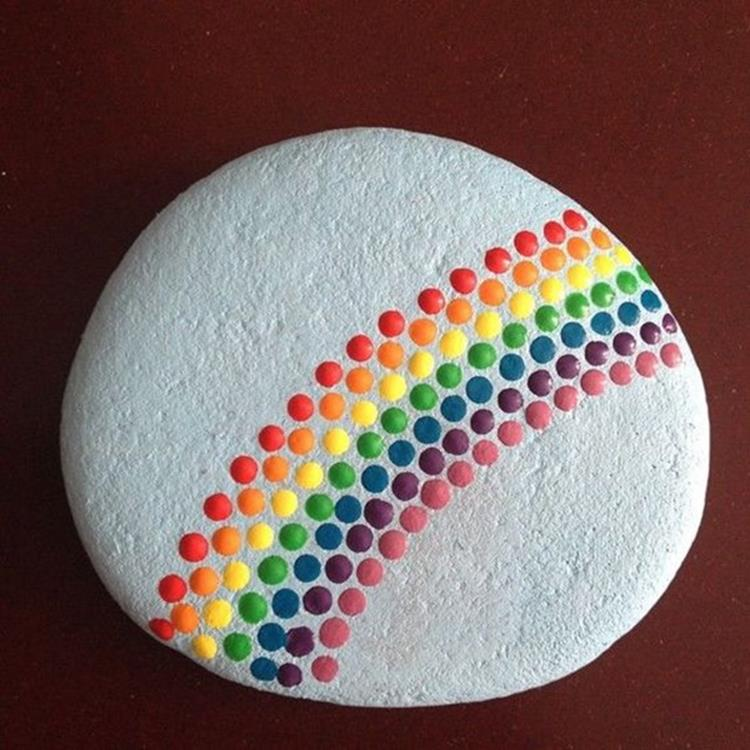 Simple Painted Rock Ideas For Garden 15
