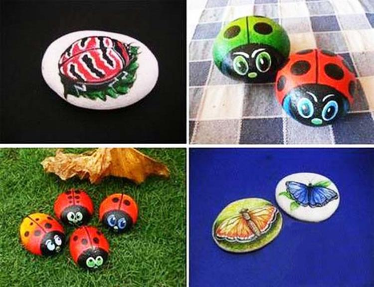 Simple Painted Rock Ideas For Garden 25