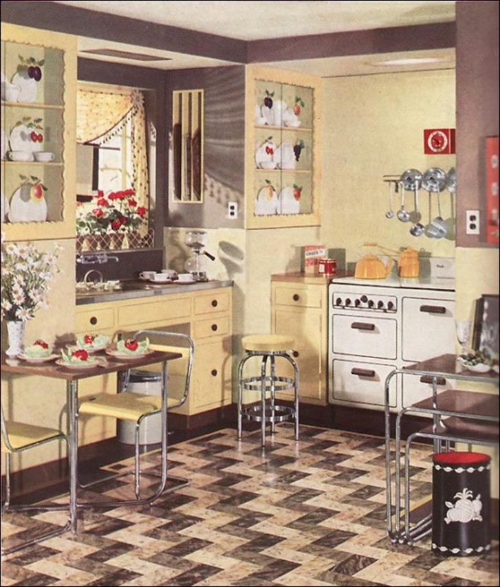 Awesome Retro Style Kitchen Design 10