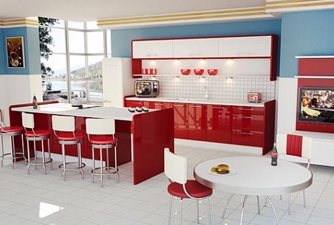 Awesome Retro Style Kitchen Design 42