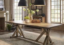 Farmhouse Wood and Metal Furniture 8