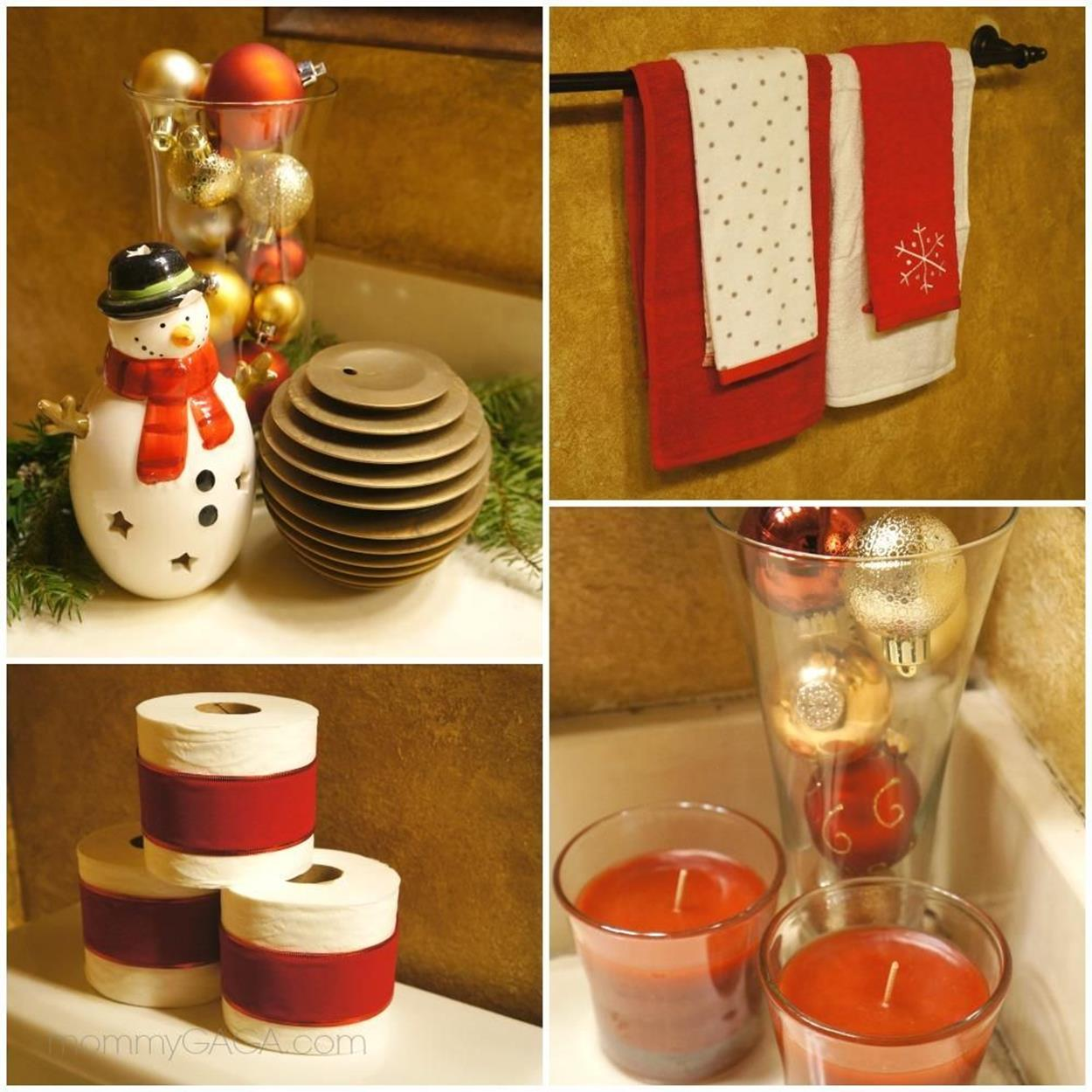 Bathroom with Holiday Wall Decor 14