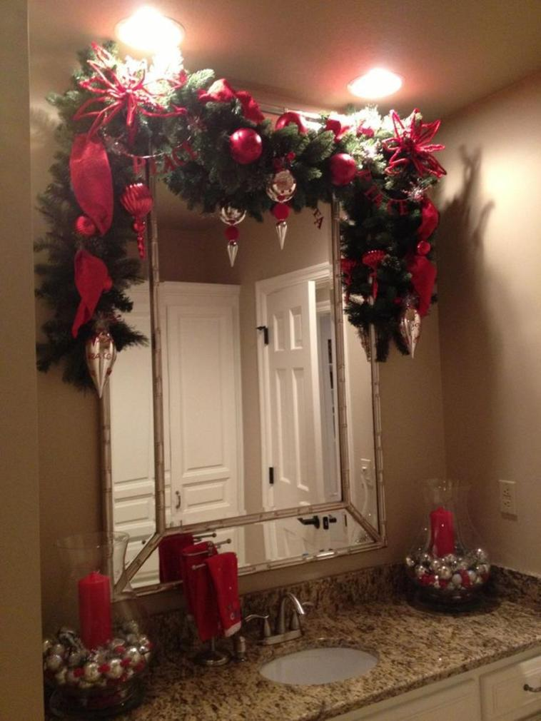 Bathroom with Holiday Wall Decor 2