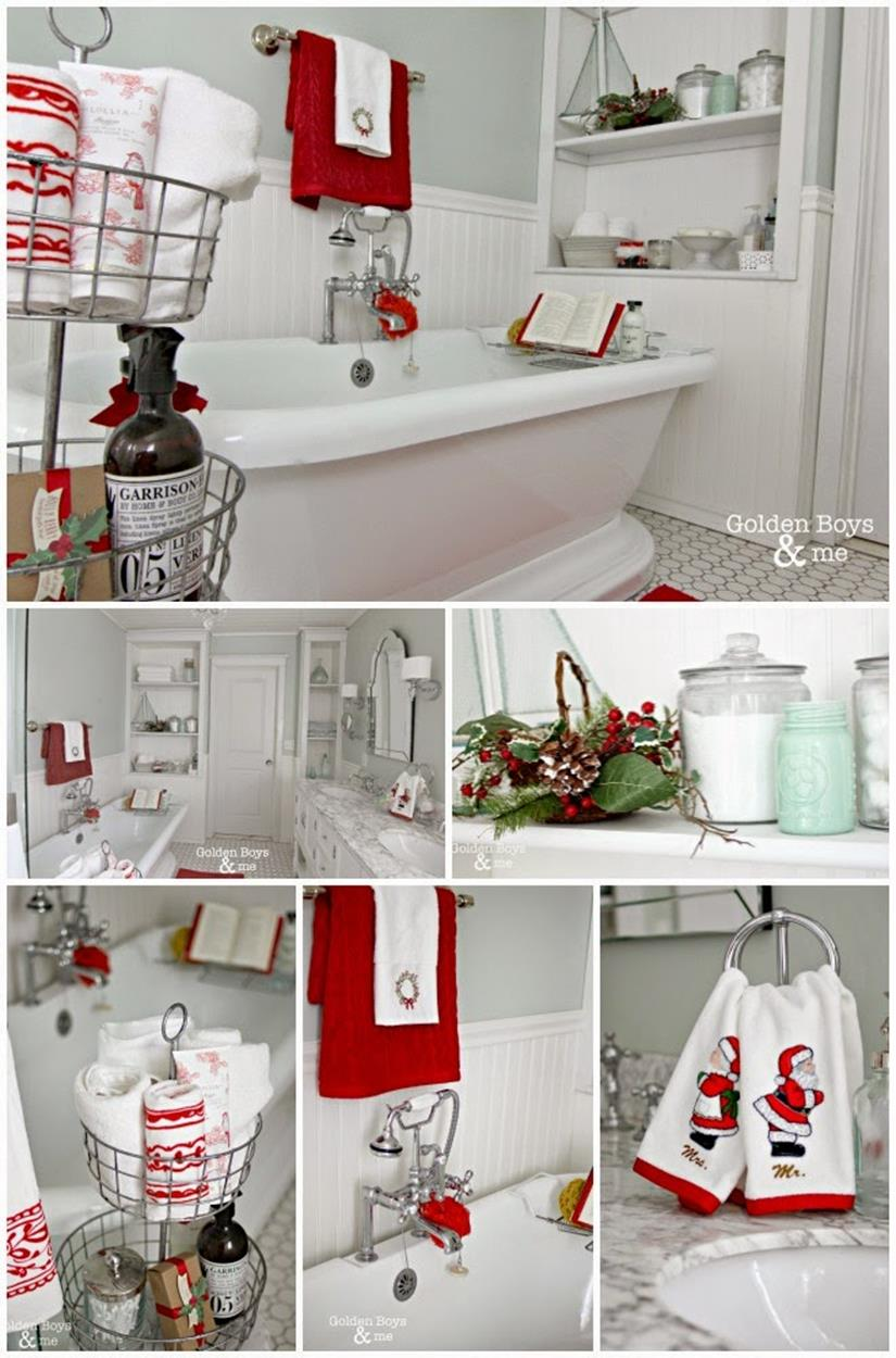 Bathroom with Holiday Wall Decor 20