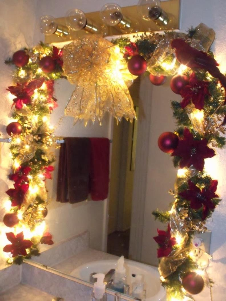Bathroom with Holiday Wall Decor 25