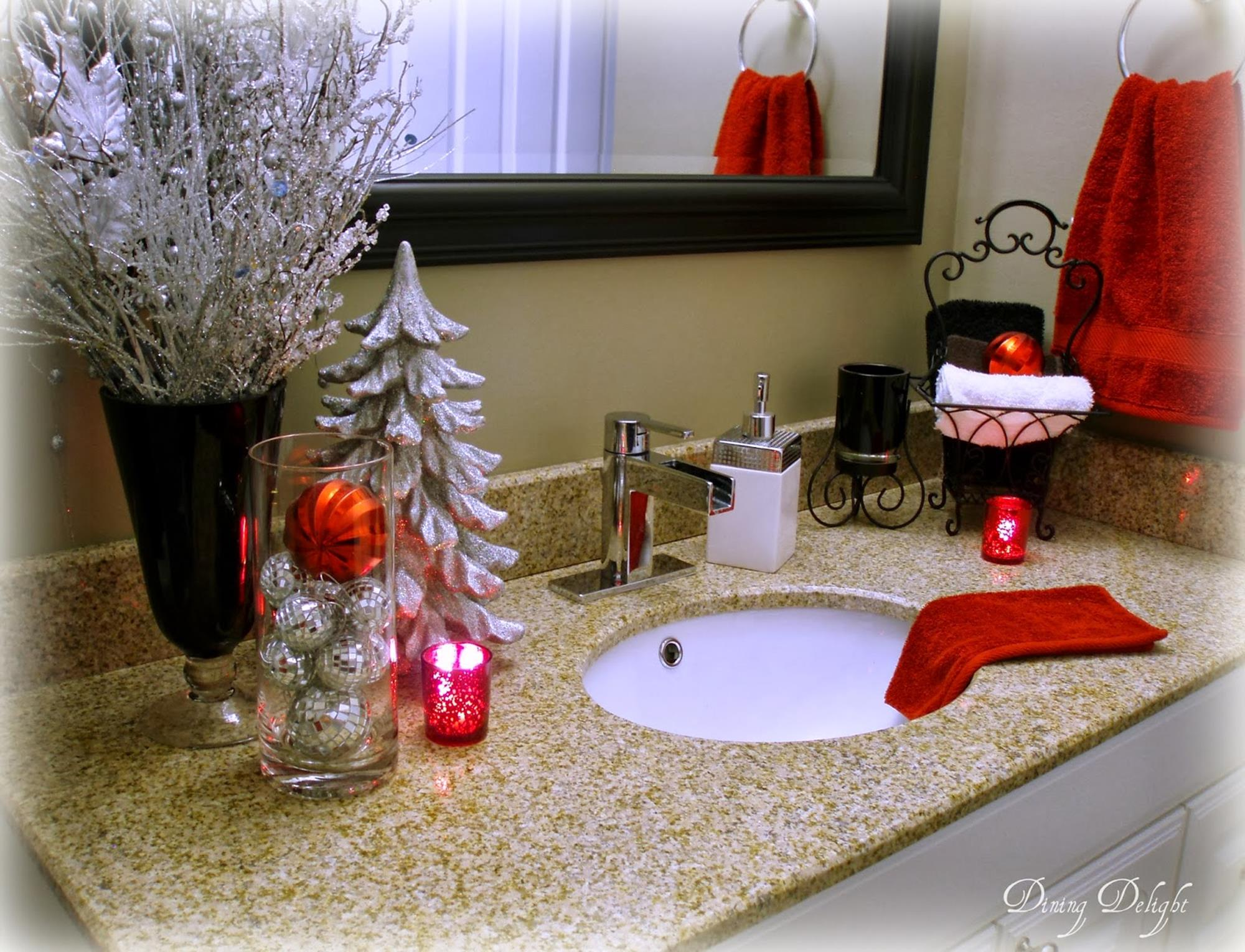 Bathroom with Holiday Wall Decor 26