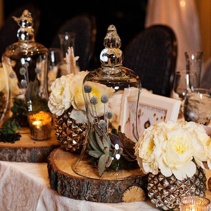 Winter Rustic Centerpieces 1
