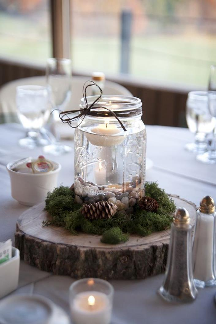 Winter Rustic Centerpieces 2