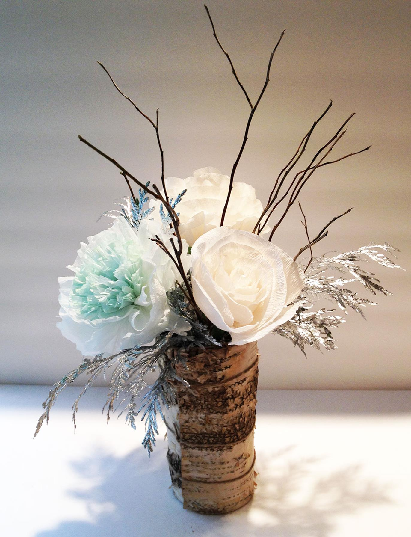 Winter Rustic Centerpieces 9