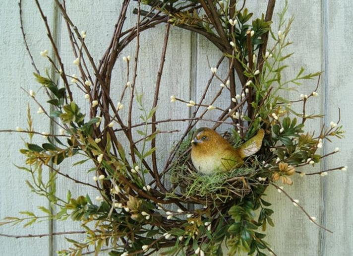 Beautiful Bird Twig Wreath for Your Sweet Home 10