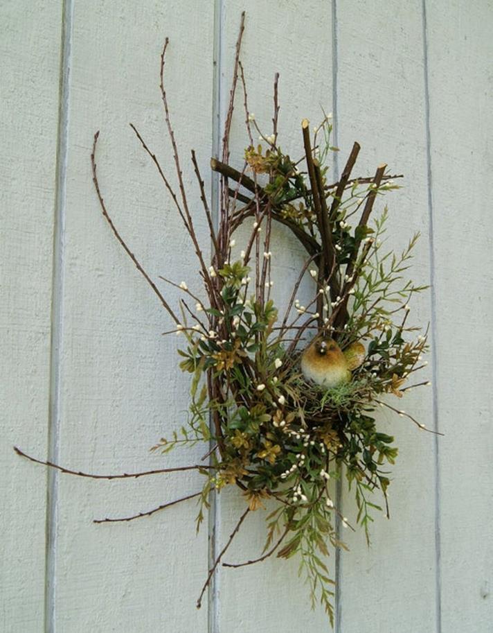 Beautiful Bird Twig Wreath for Your Sweet Home 11