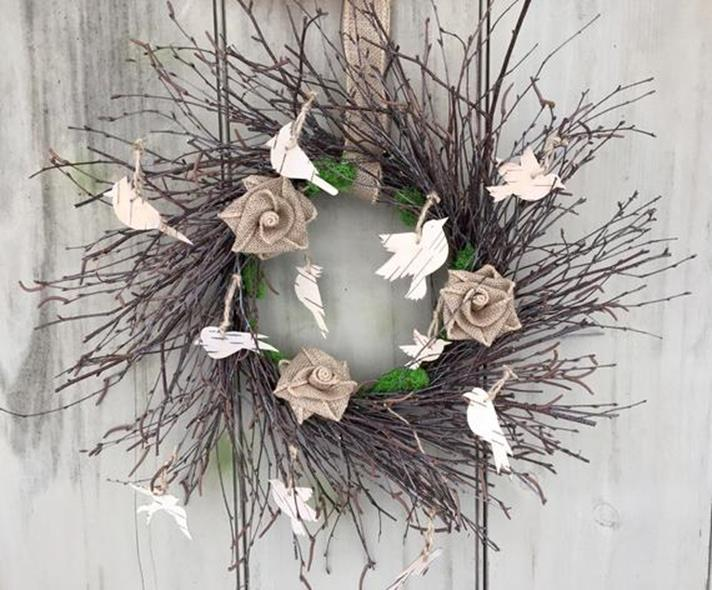 Beautiful Bird Twig Wreath for Your Sweet Home 18