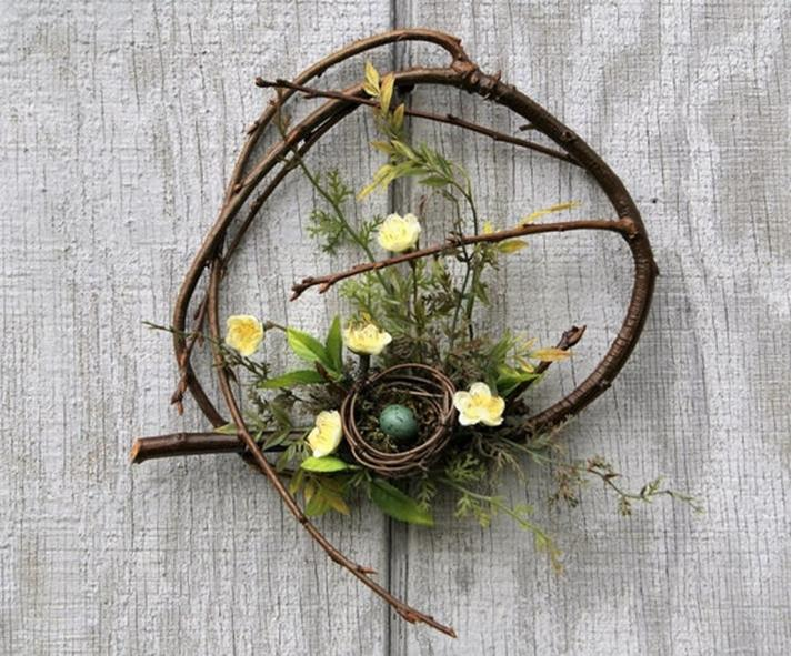 Beautiful Bird Twig Wreath for Your Sweet Home 19