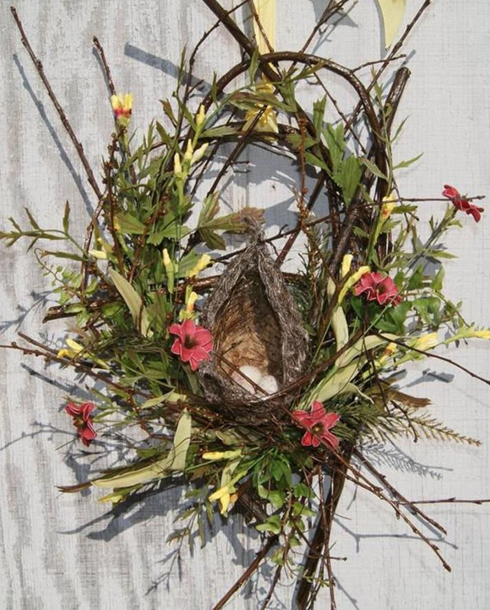 Beautiful Bird Twig Wreath for Your Sweet Home 9