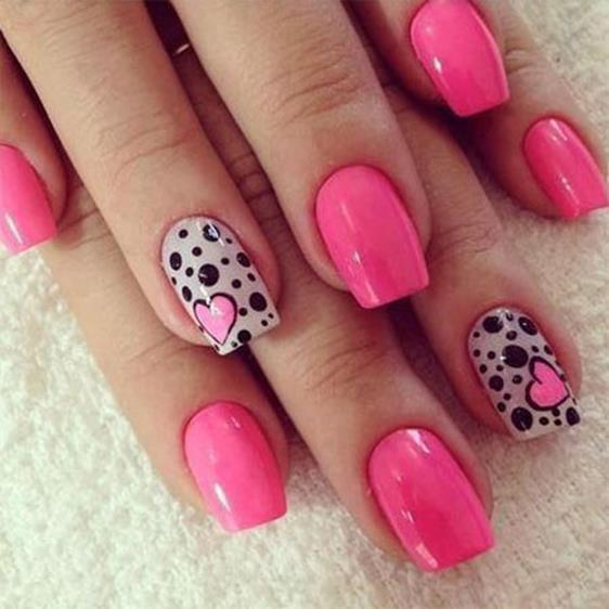 Gorgeous Valentines Day Acrylic Nail Designs 13