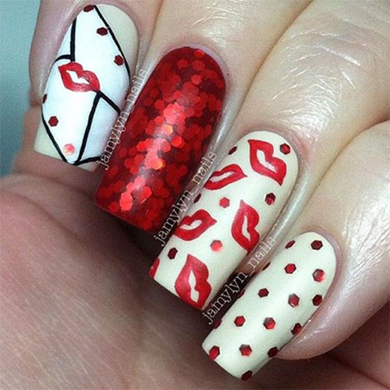 Gorgeous Valentines Day Acrylic Nail Designs 14