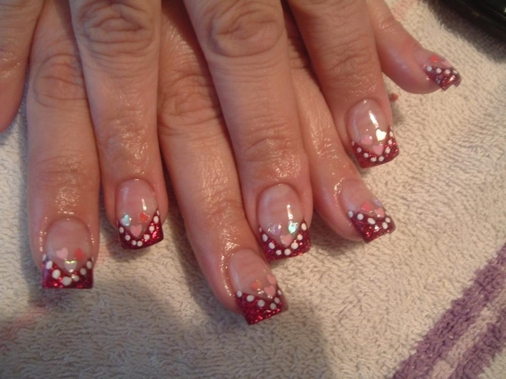 Gorgeous Valentines Day Acrylic Nail Designs 20